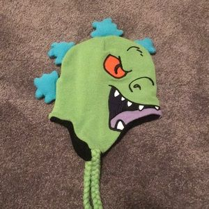 Nickelodeon Accessories - Nickelodeon Rugrats Reptar Winter Hat Adult